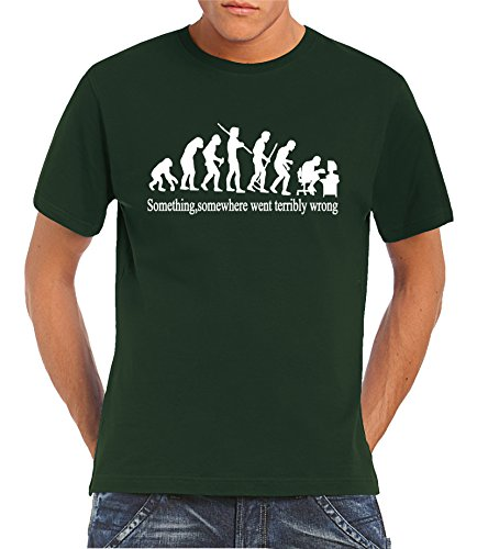 Touchlines - T-shirt, Uomo, Verde (Bottle Green),