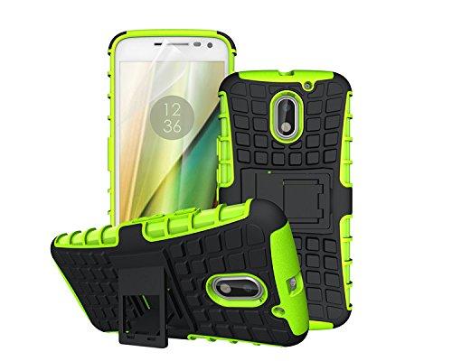 betterfon   Outdoor Handy Tasche Hybrid Case Schutz Hülle Panzer TPU Silikon Hard Cover Bumper für Lenovo Moto E3 Grün