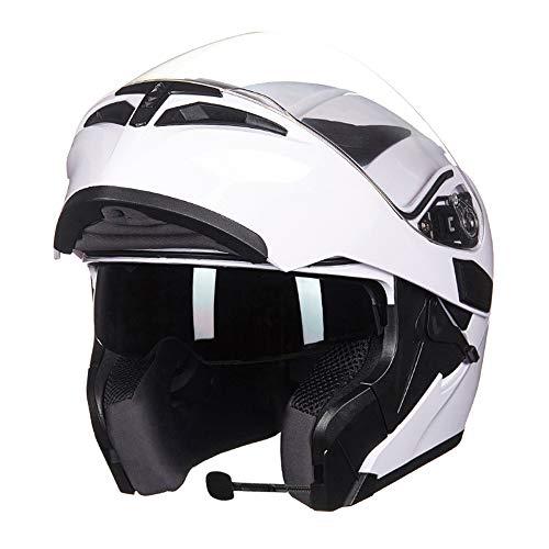MJW Bluetooth Integrado Abatible Modular De Cara Completa De La Motocicleta Casco Protector De La Pantalla MP3 Intercom,B,XL