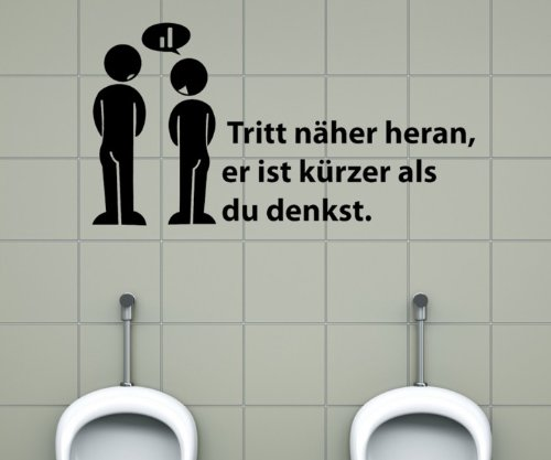 Toiletten Spruch Aufkleber, Wandtattoo Badezimmer, WC Bad Klo Dekoration 1K009