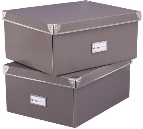 Bigso 552222101 7330061552211 Mika Lot de 2 boîtes universelles Gris 36 x 28 x 16 cm