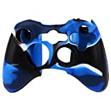 #8: Microware New Silicone Cover Case Skin for Xbox 360 Controller Camo Blue n Black