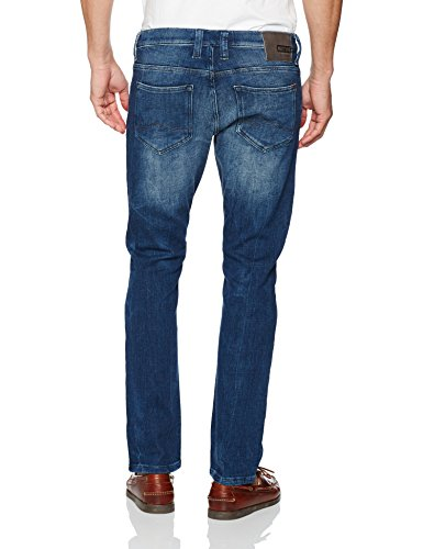 Mustang Herren Fit Jeans Chicago Tapered Blau (Rinse 080)