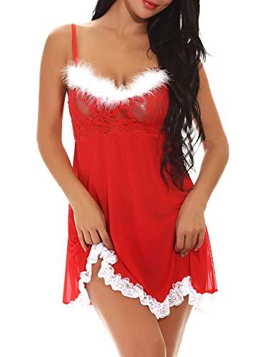 T.Mullen Women Lace Babydoll Lingerie Sets Nightwear Nightie Chemise Nightdress Sleepwear 11271 XXL
