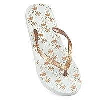 Sand rocks Womens/Ladies Tropical Flamingo Flip Flops (7/8 UK) (Grey)