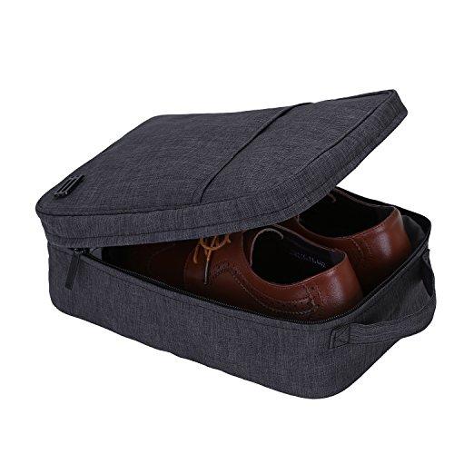 Bagsmart borsa per scarpe da viaggio portascarpe impermeabile custodia scarpe portabile nero
