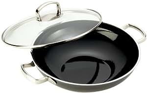 silit wok set 2 teilig unbeschichtet 32cm schwarz made in germany sch ttrand edelstahlgriff. Black Bedroom Furniture Sets. Home Design Ideas