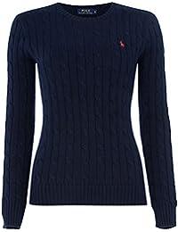 Ralph Lauren Polo Ladies Crew Neck 'Julianna' Cotton Cable Knit Sweater