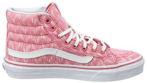 Vans Sk8-hi Slim, Baskets Adulte Mixte Pink (Denim Chevron /True White)