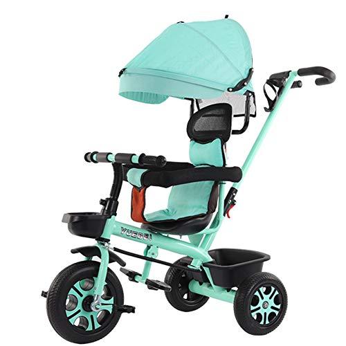 Kinderwagen Kinder Dreirad Fahrrad 1-6Years Kinderwagen Regenschirm Auto Für Kinder Kinder Dreirad Kinderwagen Baby Bike,b (Stroller Double Bike)