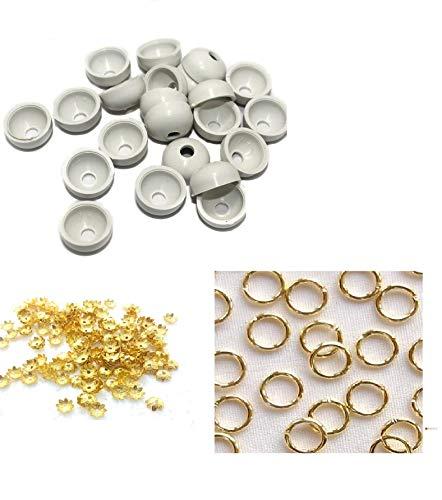 Silk Thread Jewellery Making Jhumka Base 120 pcs and 10 pcs Jump Ring and 10 pcs Flower Cap Free
