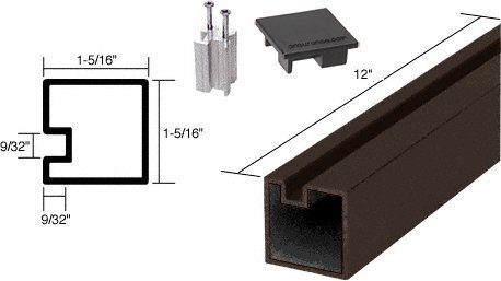 Crl Duranodic Bronze (C.R. LAURENCE 6407512 CRL Duranodic Bronze 12 End Aluminum Counter Post by C.R. Laurence)