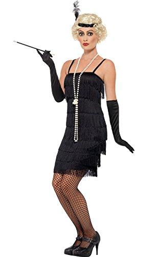 Jahre Carla Flapper Kostüm für Damen, 2XL, Schwarz (Jazz Flapper Halloween-kostüm)