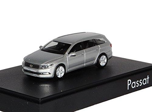 VW Volkswagen Passat B8 Variant Reflex Silber Ab 2014 H0 1/87 Herpa Modell Auto mit individiuellem Wunschkennzeichen