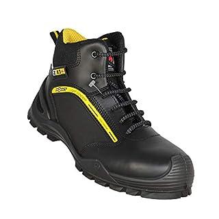 Aimont Genius S3 SRC Work Shoes Bauschuhe high Black B-Stock, Size:42 EU