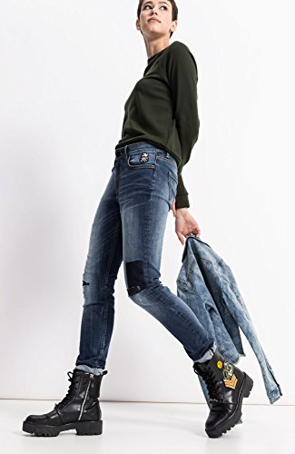 H.I.S Damen Skinny Jeans Lorraine Blau (Premium Medium Blue Wash 9383)