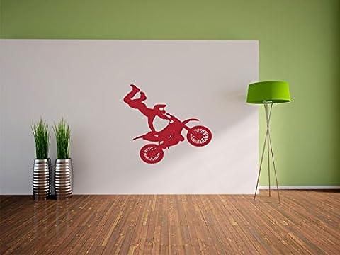 Moto Cross taille Biker Stickers muraux: 300x270 mm_a murale, stickers muraux, stickers muraux de décoration pour le salon, chambre à coucher et la chambre des enfants