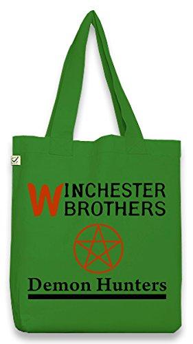 Touchlines sacchetto in cotone borsa a tracolla bag Winchester Demon Hunter, verde