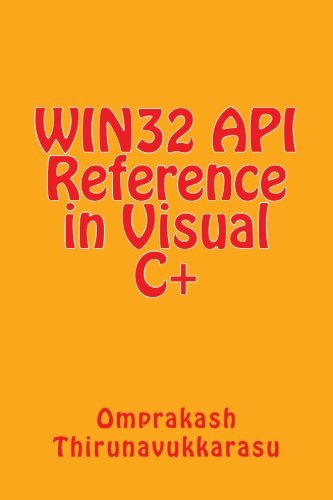WIN32 API Refrence in Visual C+