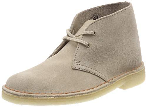 Clarks Originals Damen Boot-261382204 Desert Boots, Beige (Sand Suede), 42 EU (Clark Boot Wildleder)