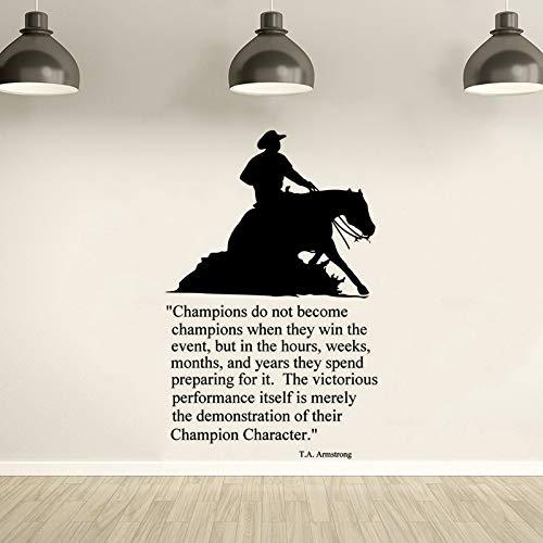 jiuyaomai Pferd Zitat Wandaufkleber Running Horse Wandkunst Aufkleber Dekoration Pferd Tier Vinyl Tapete Removable Vinyl Wandbild Eine lila 37x57 cm -