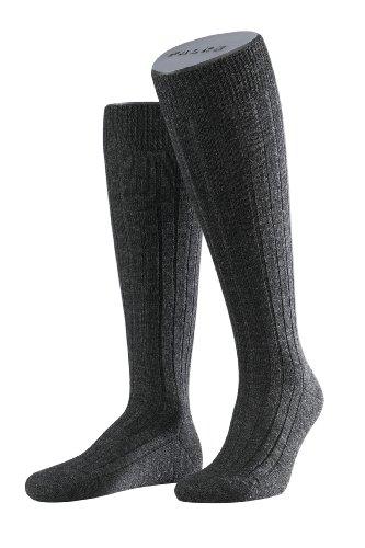 FALKE Herren Kniestrümpfe 15410 Teppich im Schuh Kniestrumpf, Gr. 41/42, Grau (anthra mel 3080) (2013 Männer Schuhe)