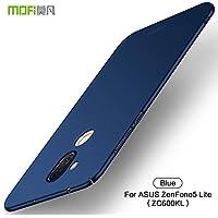 Funda Asus ZenFone 5 Lite ZC600KL,Regalo Protector Pantalla Asus ZenFone 5 Lite ZC600KL,JMGoodstore Alta Calidad Ultra Slim Anti-Rasguño y Resistente Huellas Dactilares Totalmente Protectora Carcasa Caso de Plástico Duro Cover Case (Azul)[Skin Series]