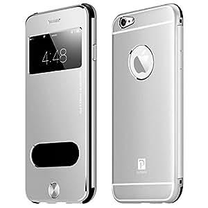 Oats® Custodia - Apple iPhone 6 / 6s Cover Case Bumper Caso in Alluminio - in Argento