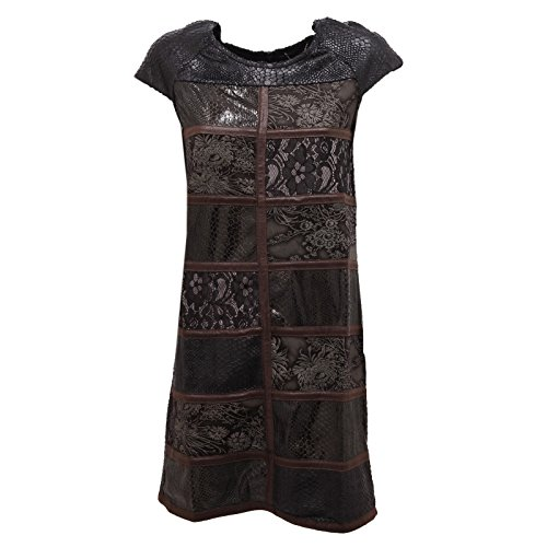 2543R vestito donna CUSTO BARCELONA FANZINE BLACK cotone dress woman [36]