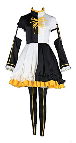 Chong Seng CHIUS Cosplay Costume Outfit Set for Melt Down Commission Rin with Inner Skirt (Halloween Vocaloid Rin)