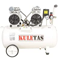 Kuletaş Süper Sessiz Yağsız Kompresör 60 Litre Çift Motor