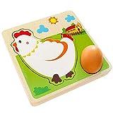 CoURTerzsl Ostergeschenk Huhn Wachstum, Puzzle, mehrschichtiges Huhn Aufwachsen für Kinder, Holz