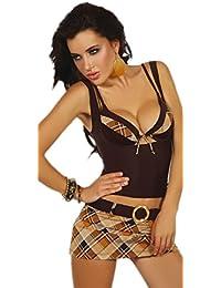 Livia Corsetti Livco zartes 4-teiliges Bikini-Set Badeanzug aus Push-Up BH, Slip, Minirock und Hemdchen in toller Geschenkbox