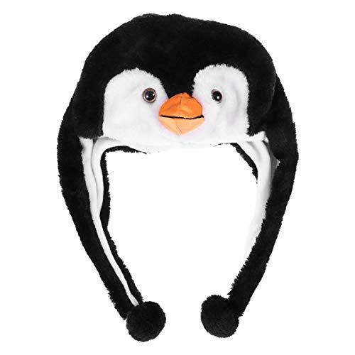BESTOYARD Plüsch-Hut mit Ohrenklappe, Pinguin-Design, für Kinder und - Plüsch Pinguin Kostüm