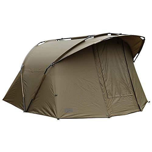 FOX EOS bivvy 2 Man 275x300x150cm Karpfenzelt, Angelzelt zum Ansitzangeln & Nachtangeln auf Karpfen, Campingzelt, Zelt für Angler