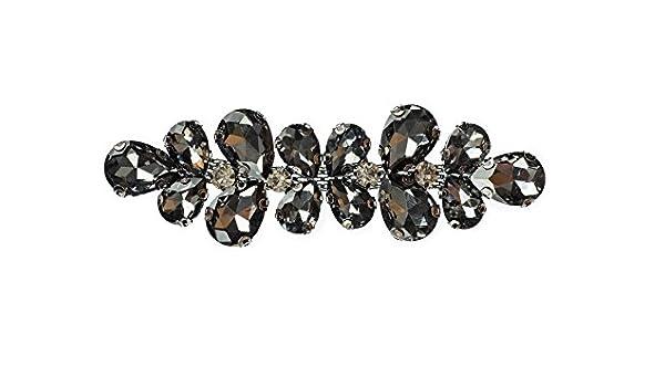 10 x 3 cm Cristal Strass Noir Strass Diamant Motif Fête De Mariage patch 211