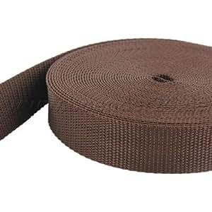 10m PP Gurtband - 30mm breit - 1,4mm stark - braun (UV)