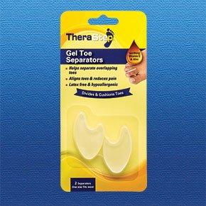 TheraStep - Séparateur en Gel Orteil x2   Taille Unique   Vitamine E Apaisante & Aloé