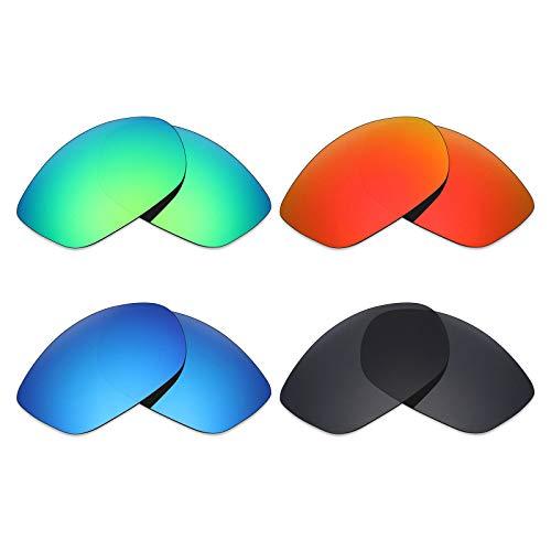 Mryok 4Paar Polarisierte Ersatz-Objektive für Costa Del Mar Fisch Sonnenbrille-Stealth Schwarz/Fire Rot/Ice Blau/Smaragd Grün