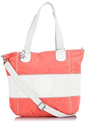 Kipling Women's Shopper Combo Tote K1227212M Pink White TF