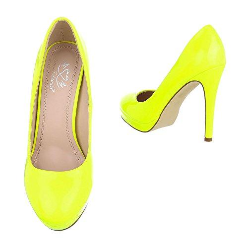 compensées Ital Design Jaune chaussures femme Pqx6FTA