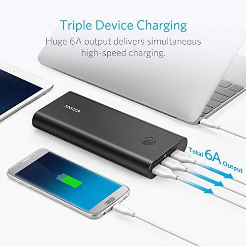Anker PowerCore+ 26800mAh Premium Externer Akku mit Quick Charge 3.0 (Aluminium 3-Port Powerbank mit hoher Kapazität) [2x schneller wiederaufladbar] - 6