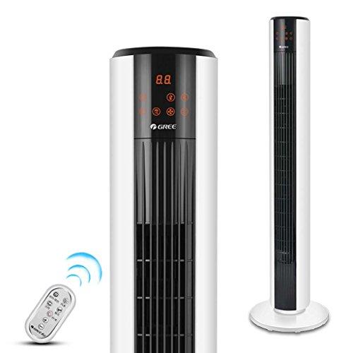 J&A Oszillierender Turmventilator, Elektrische Abkühlung auf Dem Stand Standventilator mit Timer & Ionisierer mit 5-Gang 4-Wind Modus .Aromatherapie 220V 37W