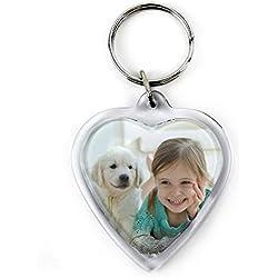 Llavero para Parejas Personalizado con Foto/Imagen/Texto/Nombre | Llavero Personalizado 2 Caras | Regalos para Enamorados | Varios Modelos Disponibles | Corazón