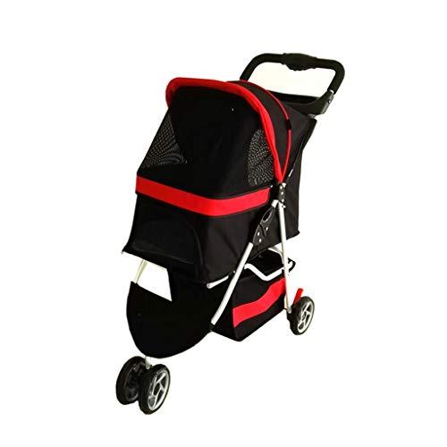 Echte High-End-Kinderwagen for kleine und mittlere Hunde Last 15 kg Günstige Hund Kinderwagen Kinderwagen/Hündchen/Welpen Kinderwagen Rot