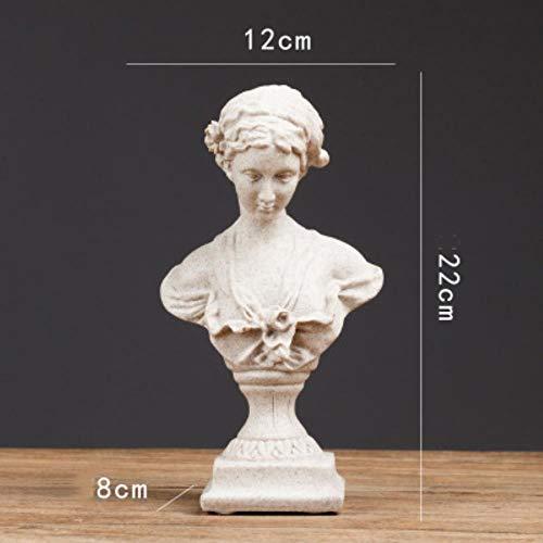WHRP Bronzefigur, europäische Retro-Statue, Venus-Statue, David, kleine Möbel, Dekoration, Basteln, Wohnzimmer, Dekoration, Tischdekoration, Stil 2, Weiß