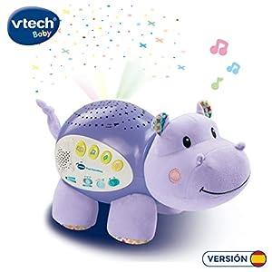 VTech Baby - Popi estrellitas, Proyector de bebe con música relajante para ayudarle a dormir, historias, sonidos de la naturaleza, rimas infantiles y canciones de cuna, temporizador (80-180922)