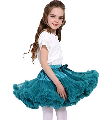 Baby Mädchen Tutu Rock Flauschige Prinzessin Kleinkind Ballett Tanz Party Petticoat M Jade (Mädchen Jade Prinzessin Kostüm)