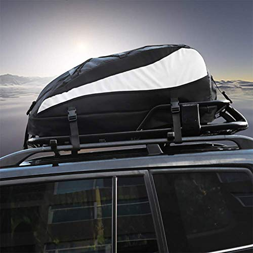 Faltbare wasserdichte Auto Dachbox, Auto-Anhängebock Frachttasche 8 Kubikfuß Robuste Gurte für Reisen und Gepäcktransport Auto, LKW, SUV 230 Liter/8 Kubikfuß