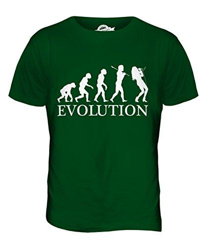 CandyMix Gesang Sänger Evolution Des Menschen Herren T Shirt Flaschengrün